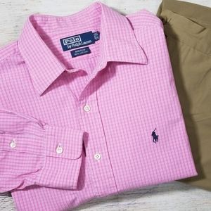 Polo By Ralph Lauren Andrew Pink Checked Shirt